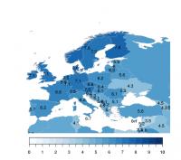 Figure 6: La satisfaction de vie en Europe.  Source : World Happiness Report 2017