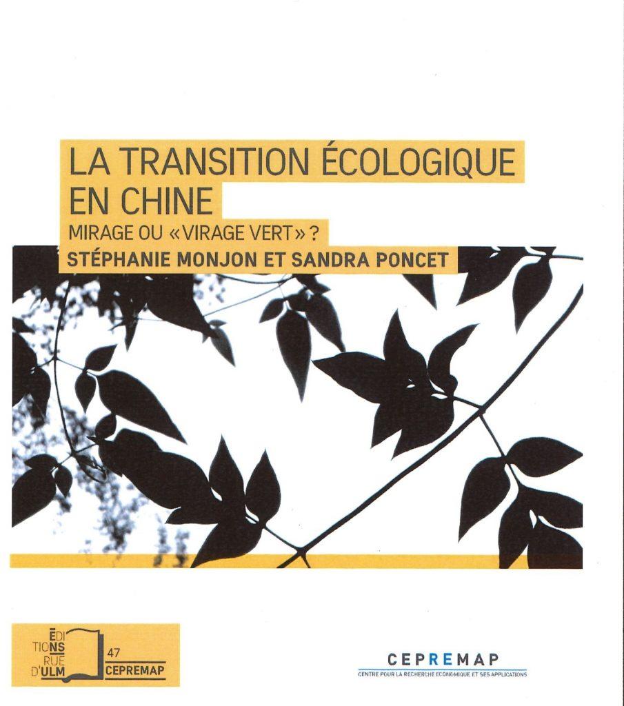 """La Transition  écologique en Chine, Mirage ou """"Virage vert"""""""